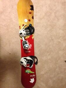 Option snowboard (163) with k2 bindings and new burton boots