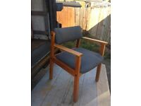 Wooden and upholstered chair.