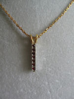 EXTRA-FINE VINTAGE CHAIN-LINK NECKLACE / RUBY-STUDDED PENDANT