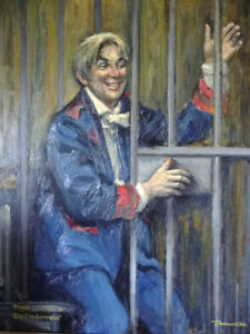 "Opera, Original Oil by Geoffrey Traunter ""Die Fledermaus"", 1977 Stratford Kitchener Area image 2"