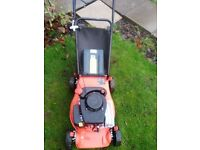 SOVEREIGN LIGHTWEIGHT PETROL LAWNMOWER AS NEW CONDITION