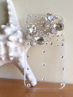 iPhone 4 or 4s Clear Cover with Butterfly Crystals