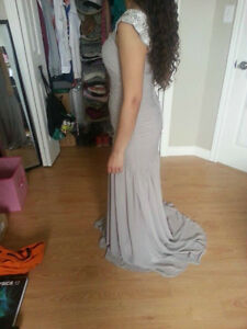 Grey/Silver Ruffled Dress for Sale! Windsor Region Ontario image 1