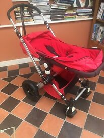 Limited edition Bugaboo Chameleon in red.