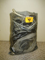 bag of phone cables, extensions, splitters, etc