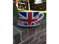 New ceramic tea cup and saucer planter