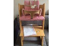 Stokke Tripp Trapp high chair with all accessories!