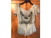 Wallis top with sequins, size 10