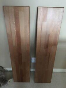IKEA shelves with wall brackets