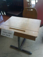 Antique wood schoolroom desk