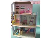 Wooden Dolls House Glamour Mansion Girls