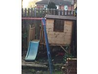 Play house with slide