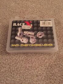 Race x anti theft locking wheel nuts *new*