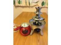 Chocolate melting and fountain set (fondue)