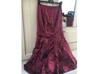 Red wine bridesmaid dress size 8-10