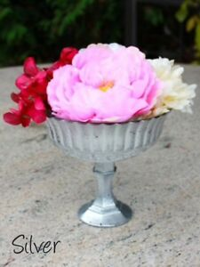 Goblet/Footed Bowl Centerpieces - Gold, Silver, Mercury Gold