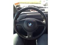 BMW e46 sport steering wheel including airbag 3 series m3