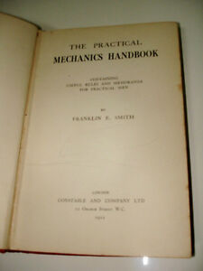 1912 The PRACTICAL MECHANICS HANDBOOK Franklin E Smith CONSTABLE Kitchener / Waterloo Kitchener Area image 2