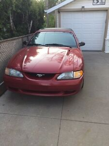 1997 Ford Red Mustang