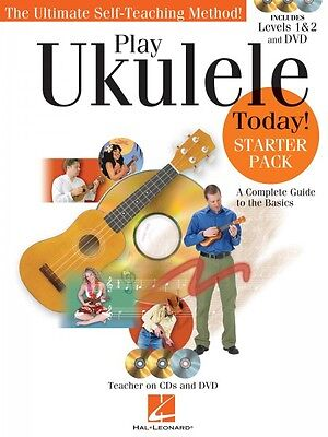 Play Ukulele Today Starter Pack Levels 1 and 2 Book CDs and DVD 000703290