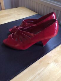 Size 6 Red Patent heels from New Look