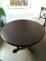 """48"""" Round Solid Maple Table w/ Leaf - Professionally Refinished"""