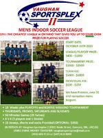 Recreational Mens Soccer League  -Win Prize: $2100 -Start Oct 15