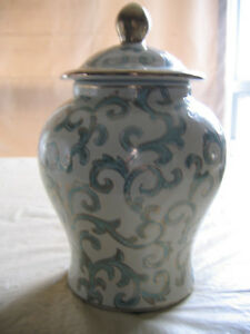 DECORATIVE CERAMIC GINGER JAR-10.25""