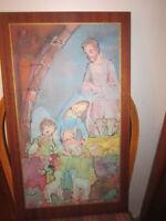Peinture sur bois de la naissance de l'enfant Jésus City of Montréal Greater Montréal Preview