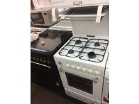 White leisure 55cm high level gas cooker grill & oven good condition with guarantee