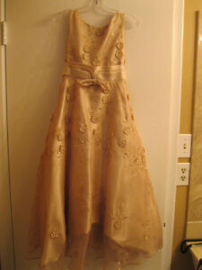 FOR SALE BEIGE,TAUPE GRADUATION/BRIDESMAID GOWN SIZE 10