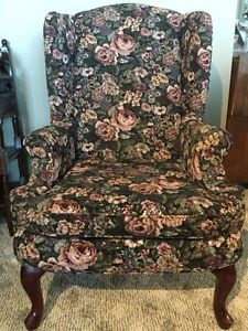 Queen Anne High Back Wing Chairs