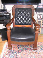 Large antique chairs- rocking chair and regular chair