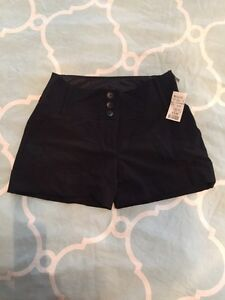 NWT - Black dress shorts (size 7)