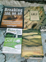 4 hard cover golf books