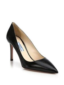 PRADA Saffiano Leather Pointy Toe Pumps - fits 5.5-6US