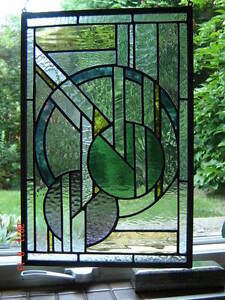 "Stained Glass Art-Deco panel-11"" x 16""--NEW Kingston Kingston Area image 1"
