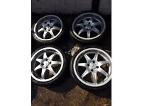 """17"""" DEZNENT ALLOY WHEELS FOR FORD FIESTA FOCUS FUSION PUMA PEUGEOT 206 306 207 307 BERLINGO W/TYRES"""