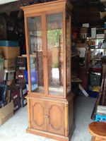Hard-to Find Elegant Cherry Display Cabinet