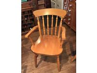 Four pine dining chairs - great condition