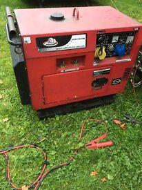 Diesel silent run generator/welder