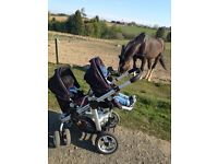 Twin icandy buggy from birth