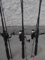 3 RODS & REELS - CASTING - OPEN FACE