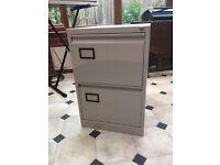 Metal 2-drawer filing cabinet