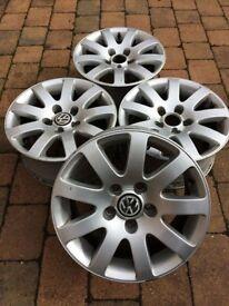 "Genuine VW Passat 16"" Alloy Wheels 9 spoke"