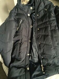Navy blue winter jacket