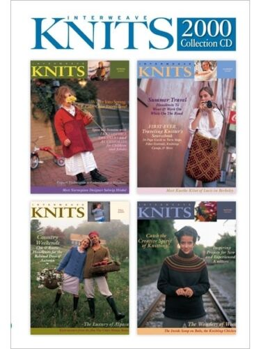 Interweave Knits Magazine 2000 Collection  - CD - 4 Issues