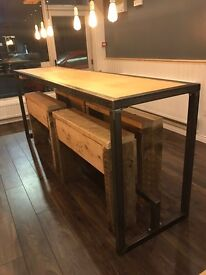 Handmade table and benches (can make to order)