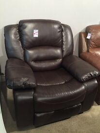 Brown leather reclining armchair---ONLY £120---CALL TODAY!!!