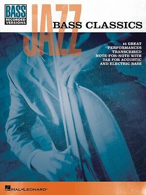 Jazz Bass Classics Sheet Music Bass Book NEW 000102070